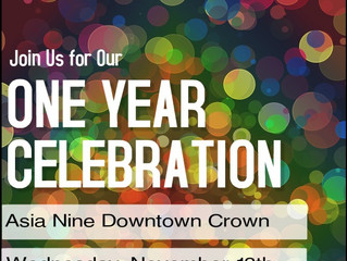 One Year Celebration Asia Nine Crown Park Ave