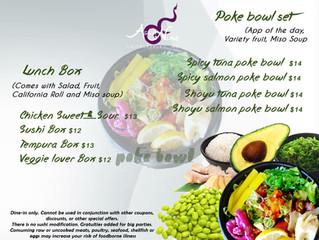 Poke Bowl Set on Lunch