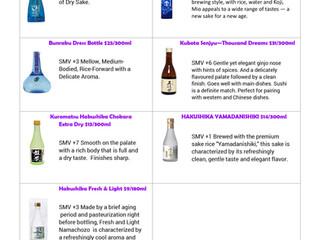 Sake list 50% off