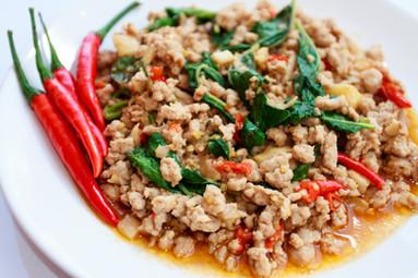Chicken Kapow on Rice