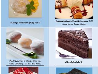 Desserts at Asia Nine MD