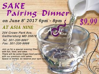 Sake Paring Dinner