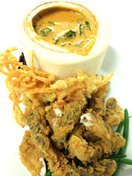Crispy Fish with Yellow Curry Sauce