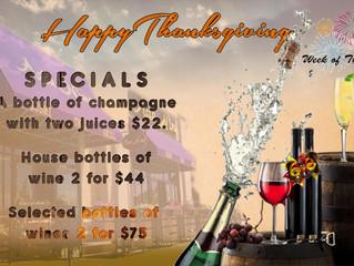 Happy Thanksgiving Specials