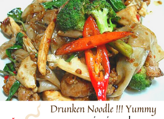 Yummy Yummy Drunken Noodle @asianinemd.  Follow us on facebook & Instagram.