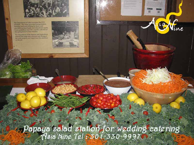 Wedding Catering - Papaya Salad Table 5