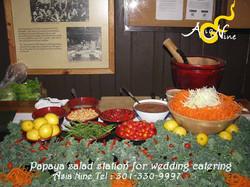 Wedding Catering - Papaya Salad Table 5