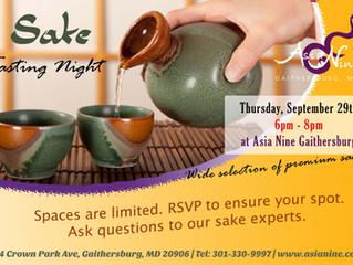 Sake tasting night. Join us for premium sake.