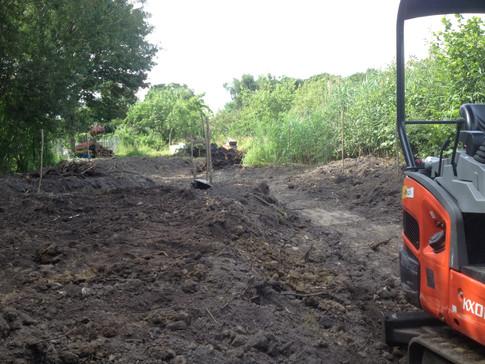 pond digging at HQ