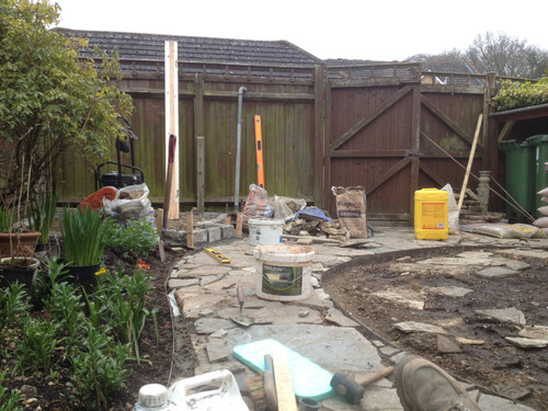patio re-shaping