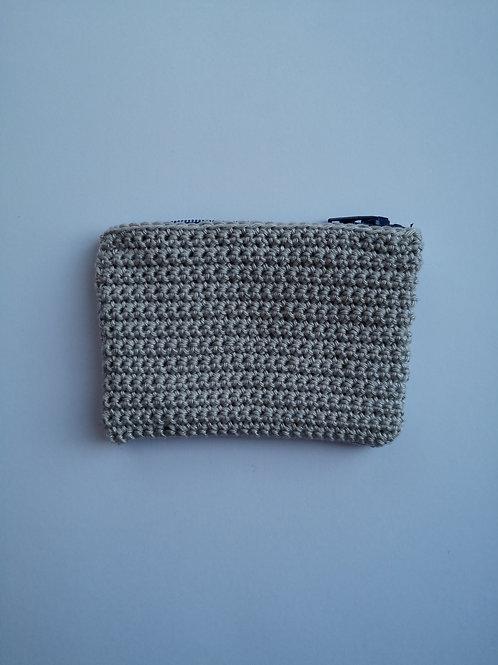 silver crochet zip purse (slightly larger)
