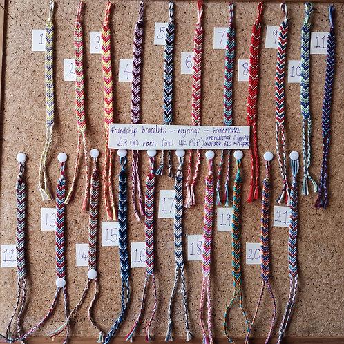 Bracelets - Keyrings - Bookmarks - Zipper Pull