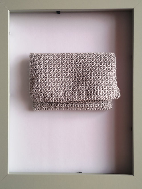 soft crocheted silver purse