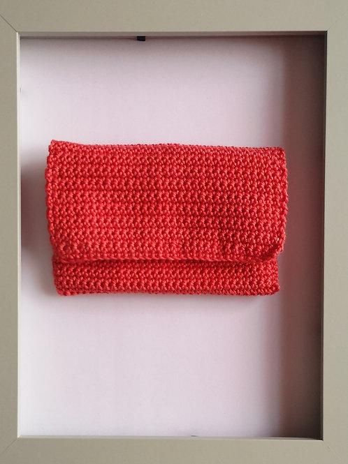 soft crocheted smoked salmon purse