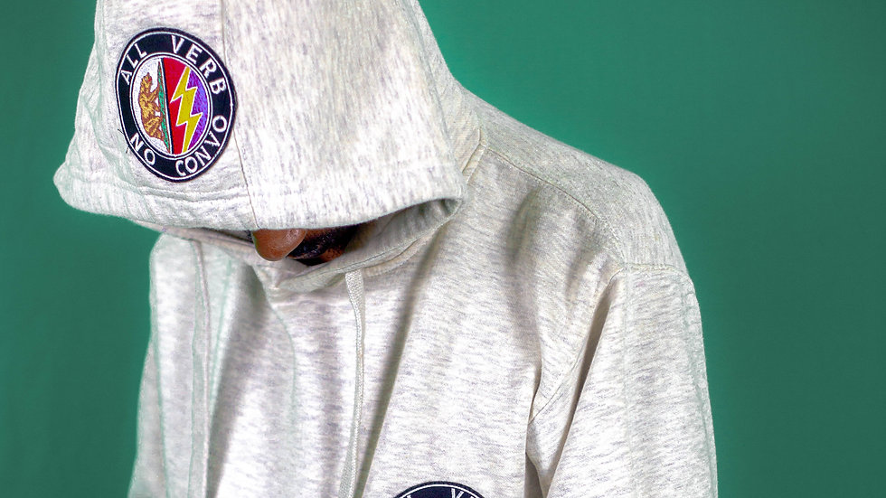 All Verb No Convo Double Up Hoodie