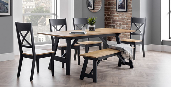 Luna Dining Table (Bench & 4 Chairs)