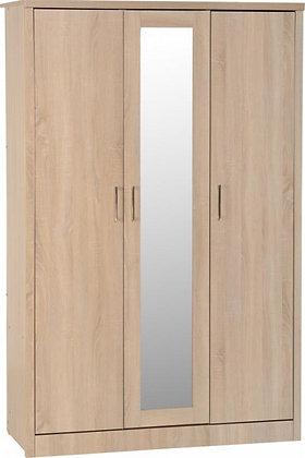 Shane - 3 Door Wardrobe (Light Oak Effect Veneer)