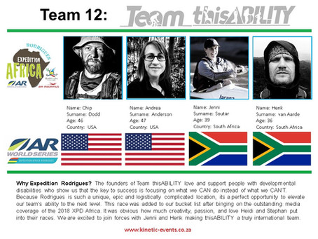 Expedition Africa Team is Complete