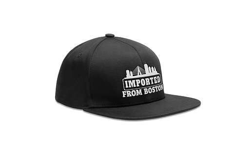 New Era Snapback Cap - Imported From Boston - Black