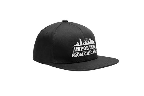 New Era Snapback Cap - Imported from Chicago - Black