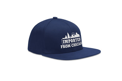 New Era Snapback Hat - Imported from Chicago - Navy Blue