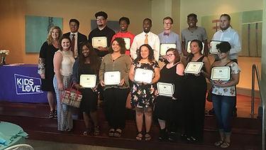 Kids to Love Scholarship recipients 2018