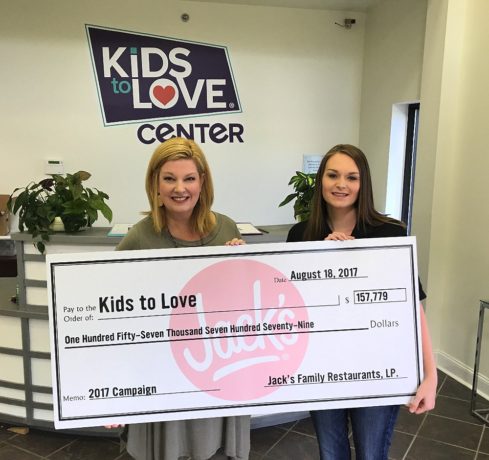 Jack's Family Restaurant gives check of $157,779 to Kids to Love