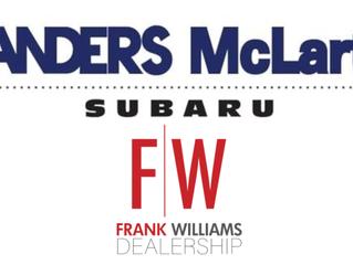 Frank Williams & Landers McLarty Subaru Continues Media Sponsorship