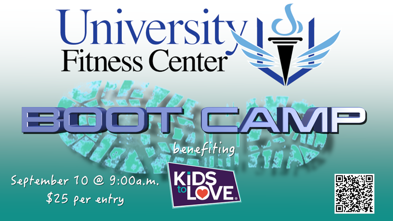 University Fitness Center Boot Camp, Kids to Love