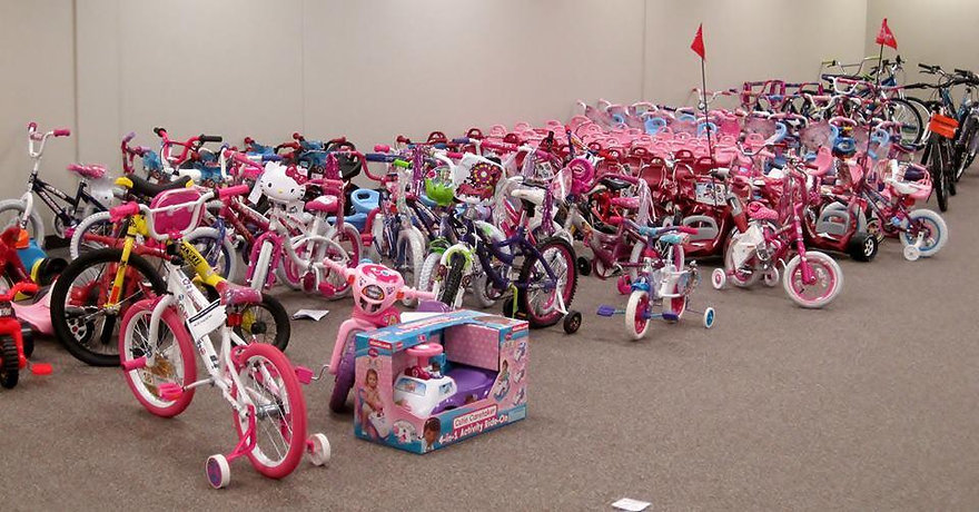 Kids to Love Christmas for the Kids bikes