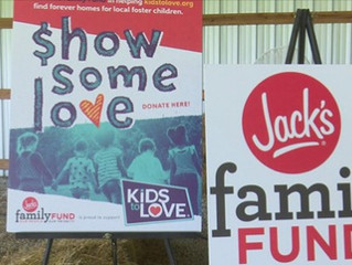 Kids to Love Named Beneficiary of New Jack's Family Fund.