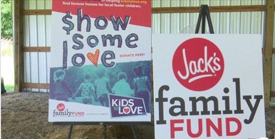 Kids to Love is Jack's Family Fund's first benefitting charity.