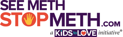 See Meth Stop Meth logo a Kids to Love initiative