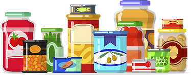 Pantry items illustration