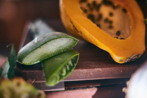 Aloe y papaya