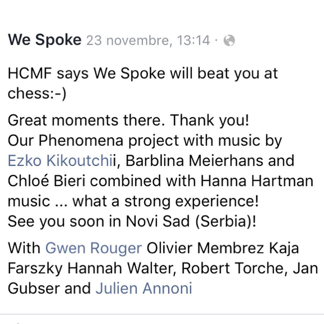 We Spoke