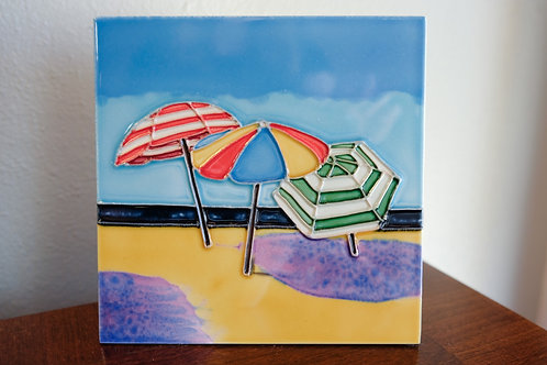 Three Umbrellas Tile