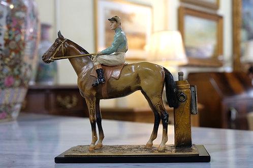 Bronze Horse with Jockey