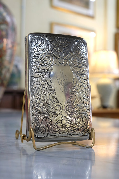Sterling Cigarette Case with Monogram