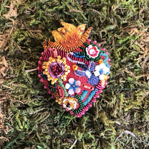 Trovelore Flaming Heart Brooch