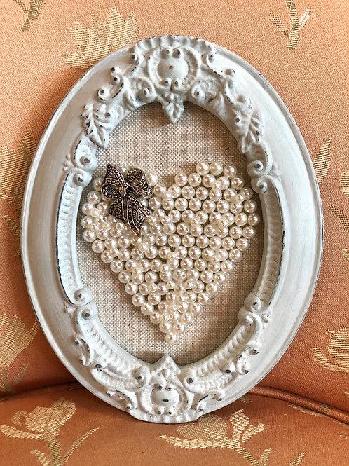 Pearl Heart Framed Art