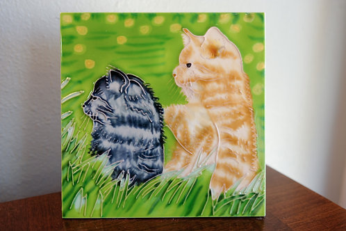 Cats A Hanging Tile