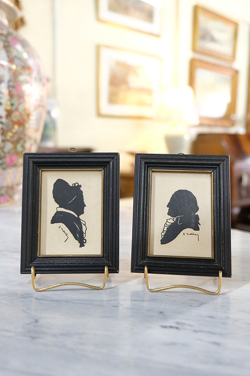 Pair of Signed Silhouettes