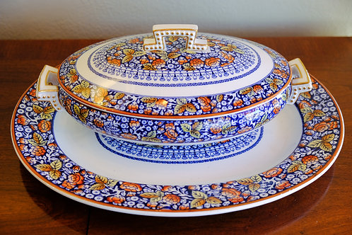 Antique Covered Dish with Platter