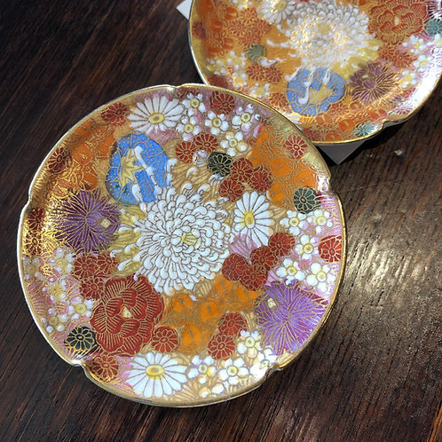 Small Cloisenne Plates Set of 4
