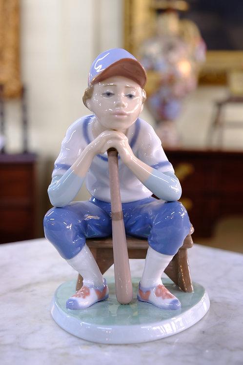 Lladro Baseball Player, Original Box