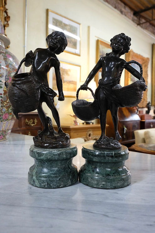 Pair of Bronze Statuettes