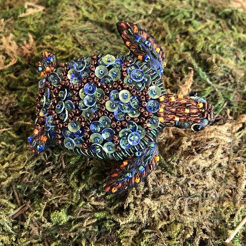 Trovelore Aquamarine Turtle Brooch