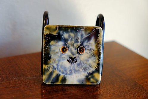 Ceramic Owl Magnet