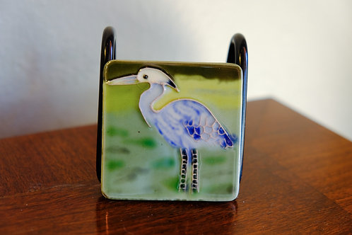 Ceramic Heron Magnet